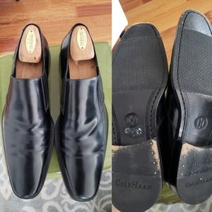 Cole Haan dress slip on black shoes 10.5